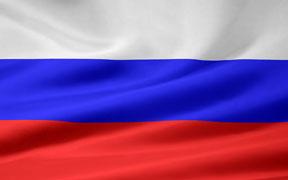 rippled Russian flag